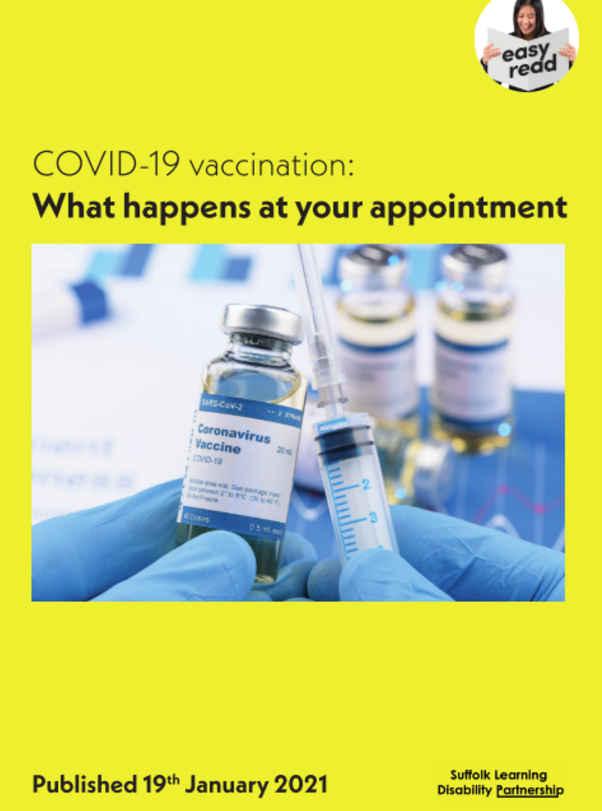 Easy Read Information: COVID-19 - What happens at your appointment